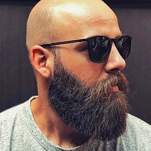 Full Beard with Bald Head