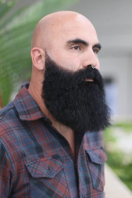 Long Beard with Bald Head