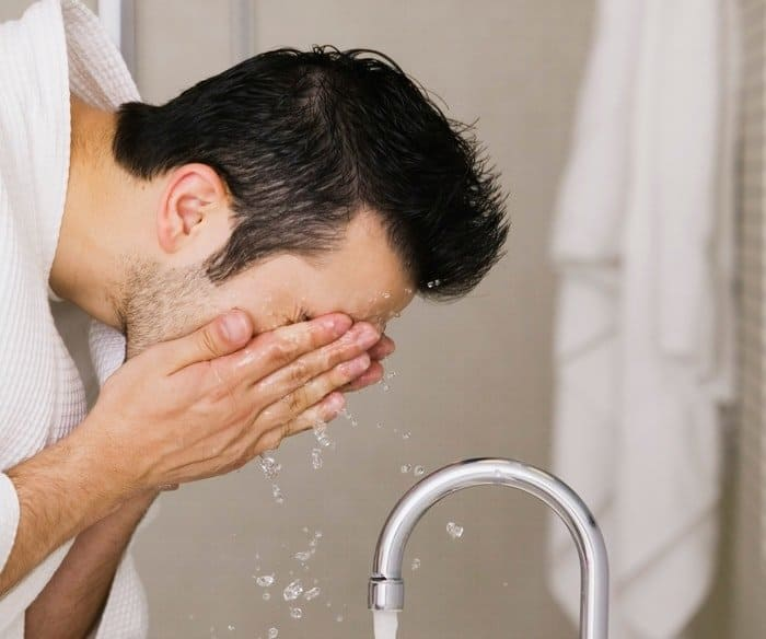 Asian Facial Hair - washing facial hair