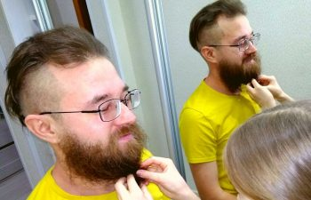 How to braid a short beard