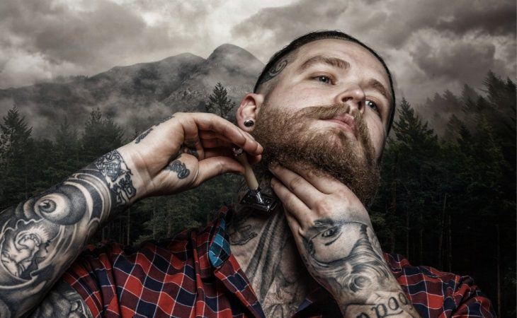 Steps to take when shaving over a tattoo
